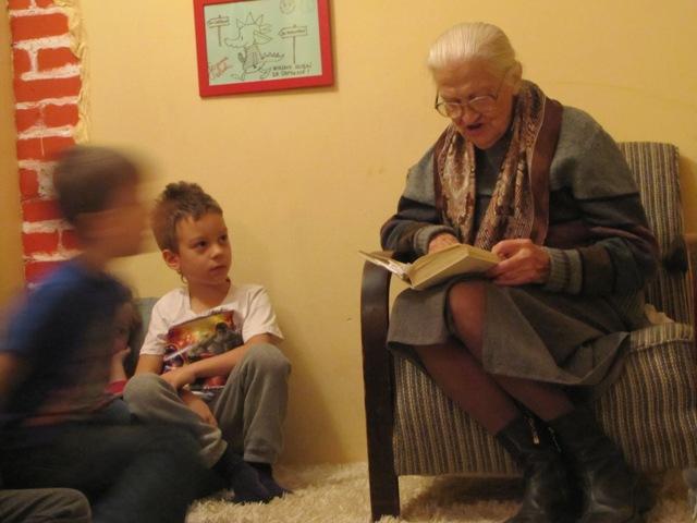 Spotkanie w czytalni z panią Janiną - klasa 1a