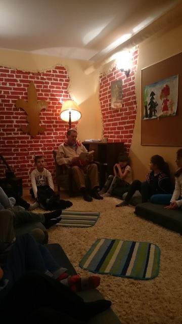 Spotkanie w czytalni z p.Leszkiem - klasa 2a
