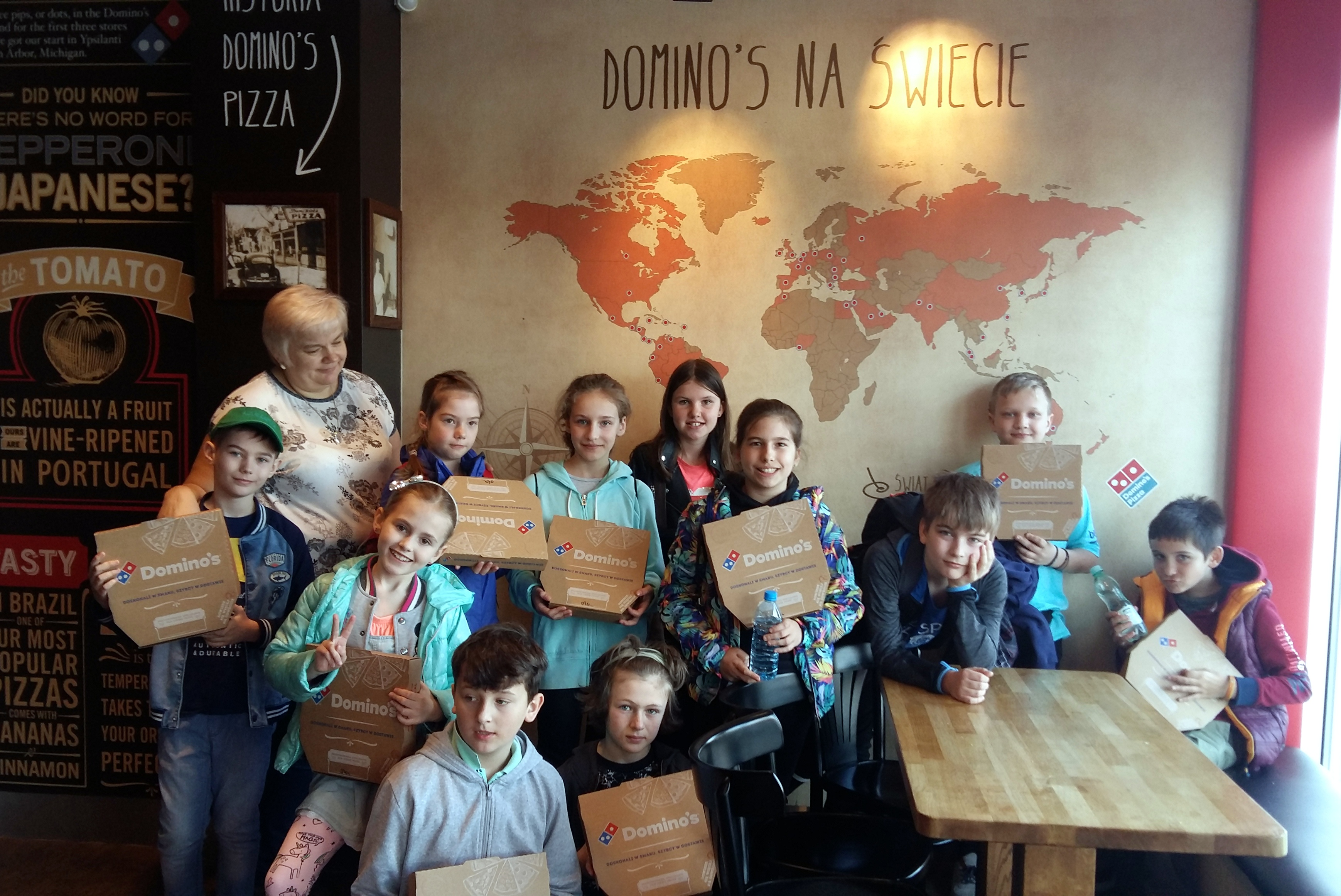 2018-4-11- klasa 4d w Dominos Pizza